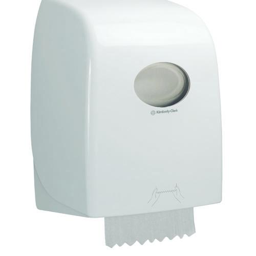 Aquarius rolhanddoek dispenser wit - 6959