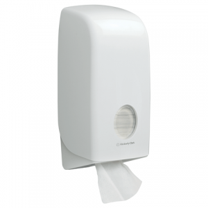 Aquarius toilettissue dispenser voor gevouwen toilettissues