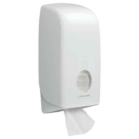 Aquarius toilettissue dispenser voor gevouwen toilettissues