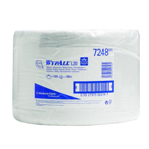 Wypall L20 poetsdoek 2-lgs wit 380 mtr