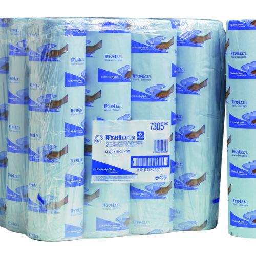 Wypall L30 poetsdoek 2-lgs blauw 100 dk 38 mtr
